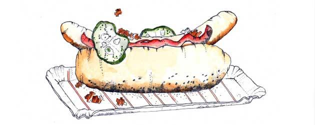 hot-dog-akvarel
